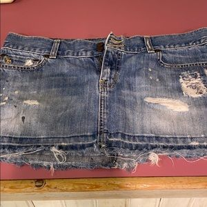 Short denim skirt (young adult)-very small size 8